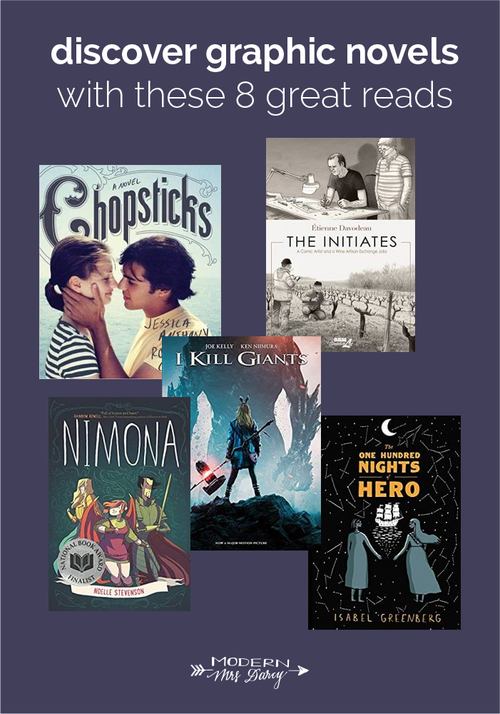 Discover Graphic Novels With These 8 Favorite Reads Modern Mrs Darcy Graphic Novel Novels Books