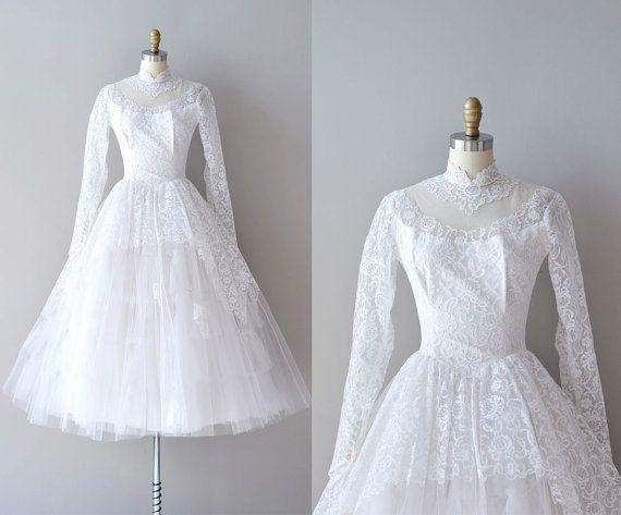 50s Lace Wedding Dress 1950s Ideal By Deargolden 485 00