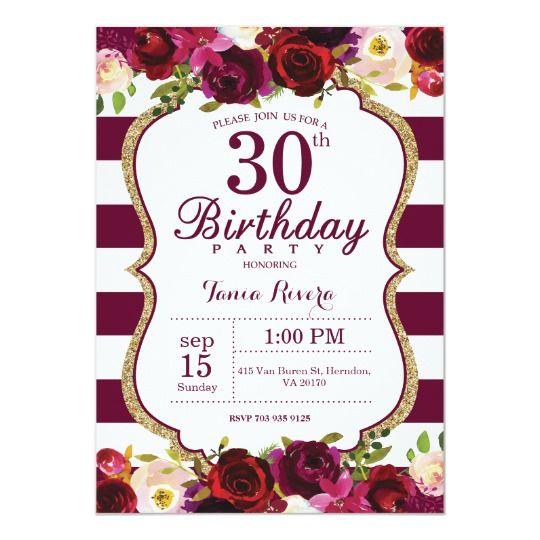 Invitación floral de la fiesta de cumpleaños de