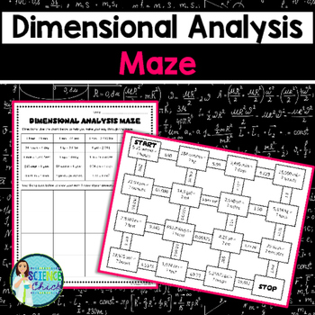 Dimensional Analysis Maze Are You Looking For A Fun Way To Have Your Students Practice Dimensio Dimensional Analysis Science Card Sorts Life Science Task Cards Dimensional analysis worksheet chemistry
