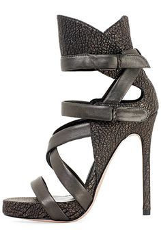 Lady`s high heel bootie strap sandals footwear colection