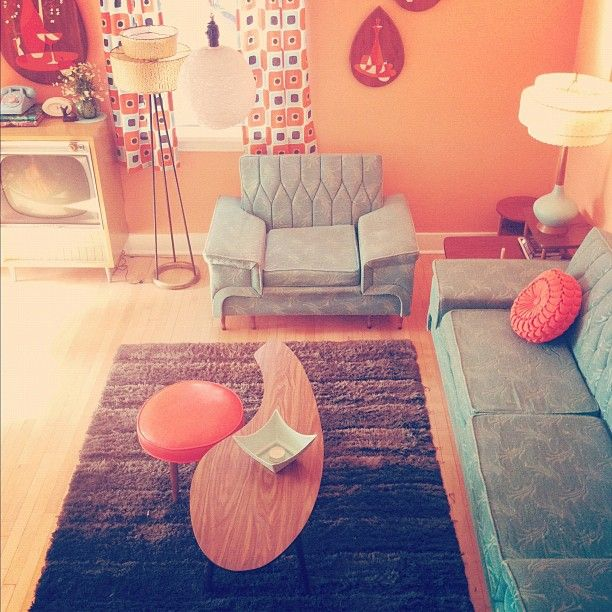 Living room : colors, mod style