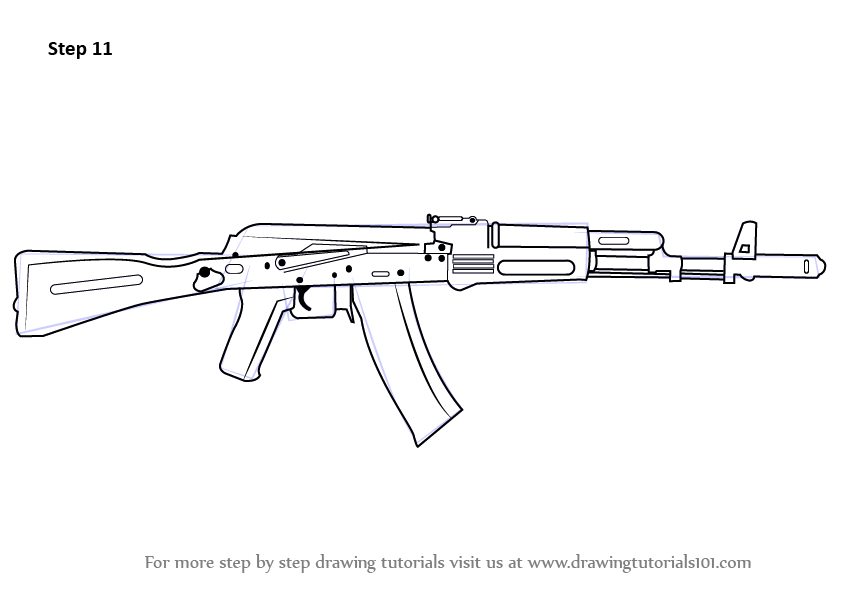 Pin On How To Draw Ak47