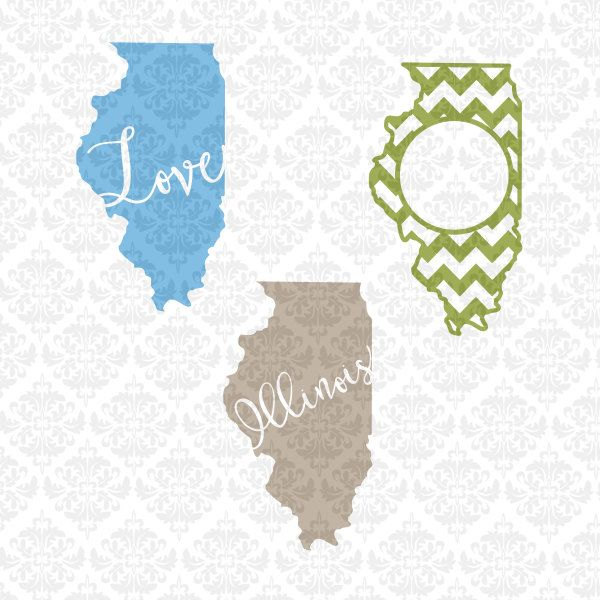 Download illinois State Shape Chevron Heart Monogram Home Love ...