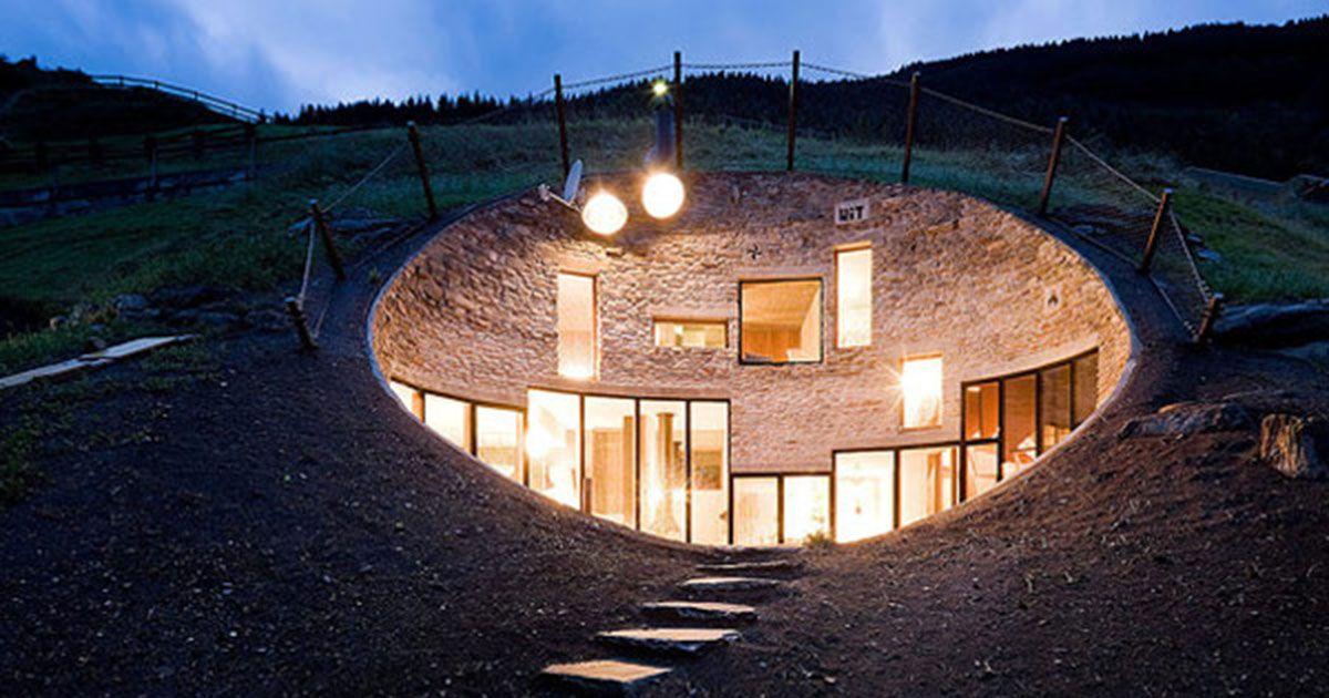 Unterirdische Hauser Unterirdisches Haus Natur Haus Haus Architektur