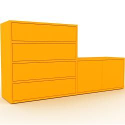 Sideboard Gelb – Sideboard: Schubladen in Gelb & Türen in Gelb – Hochwertige Materialien – 152 x 80