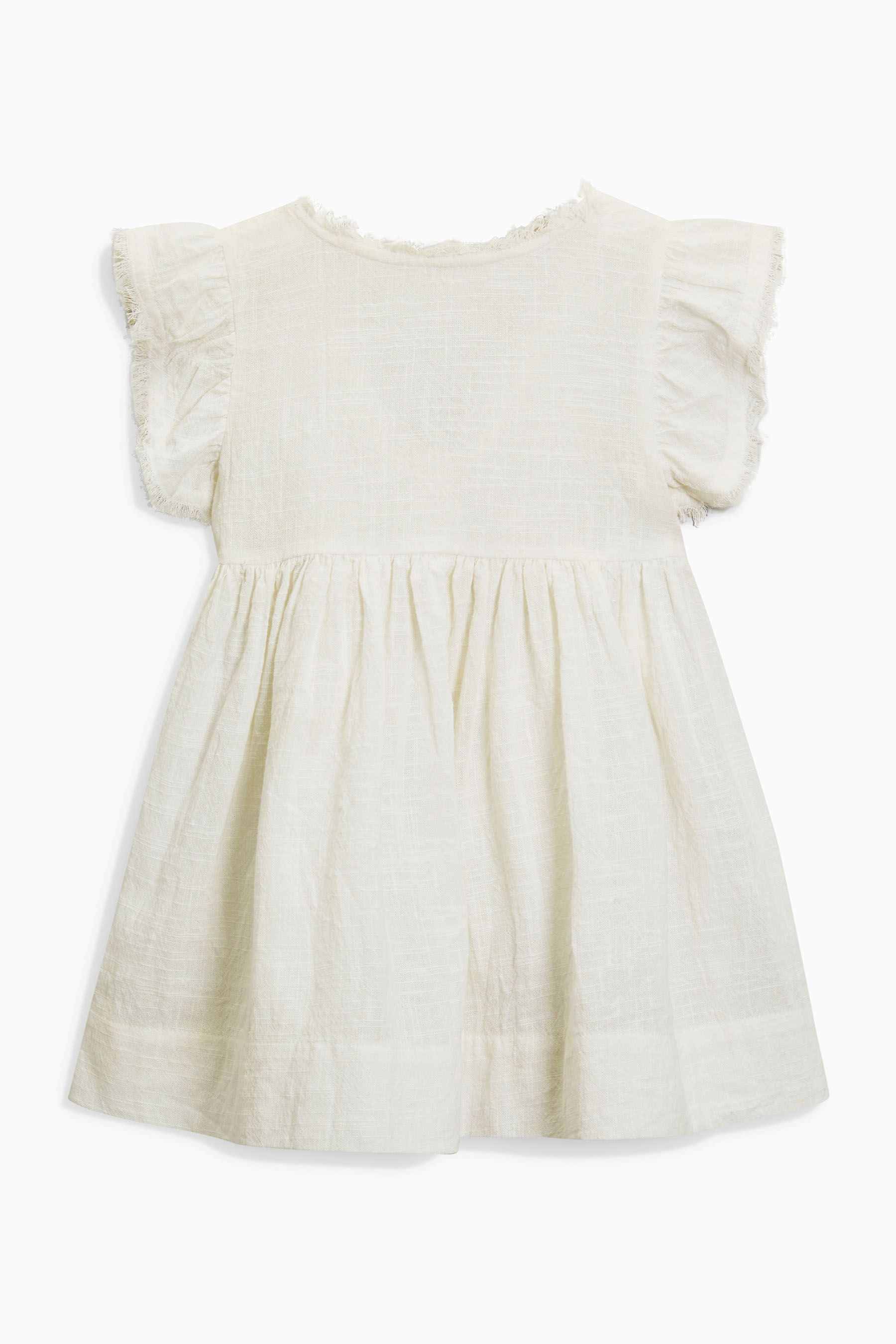 56b540aff Girls Next Frill Sleeve Dress (3mths-6yrs) - White