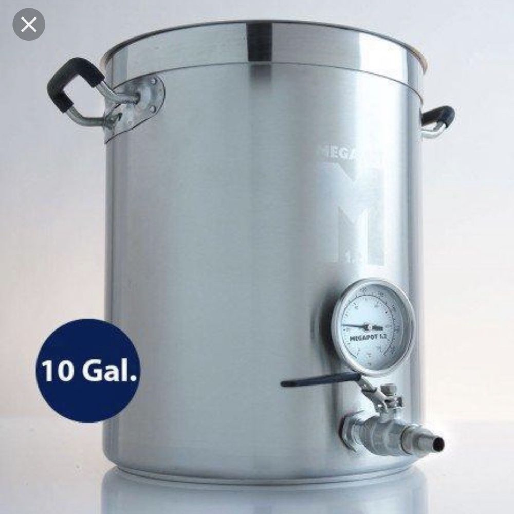 Megapot 1 2 Stainless Steel Brew Kettle Valve And Thermometer 10 Gallon Beer Home Brewing Equipment Stainless Steel Tubing Beer