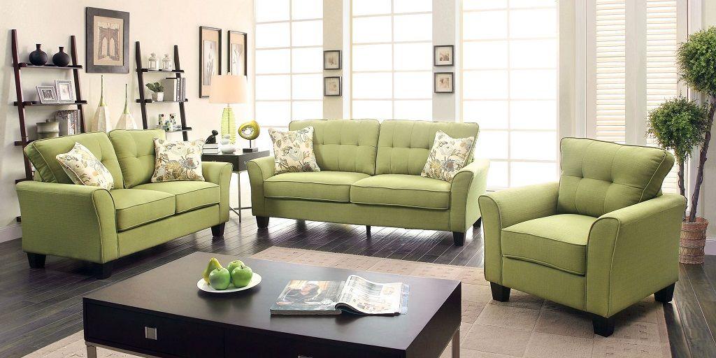 Green Fabric Sofa Set Latest Design
