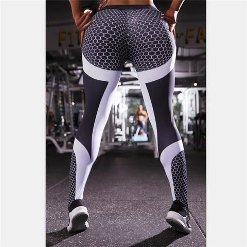 35e32727a205b 11.11 Mesh Pattern Print Leggings fitness Push Up Leggings Women Sporting  Workout Leggins Elastic Slim High Waist Women Sexy Pan
