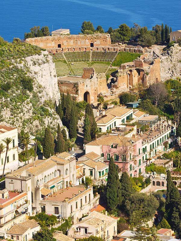 Taormina Vacanze in italia, Sicilia, Idee di viaggio
