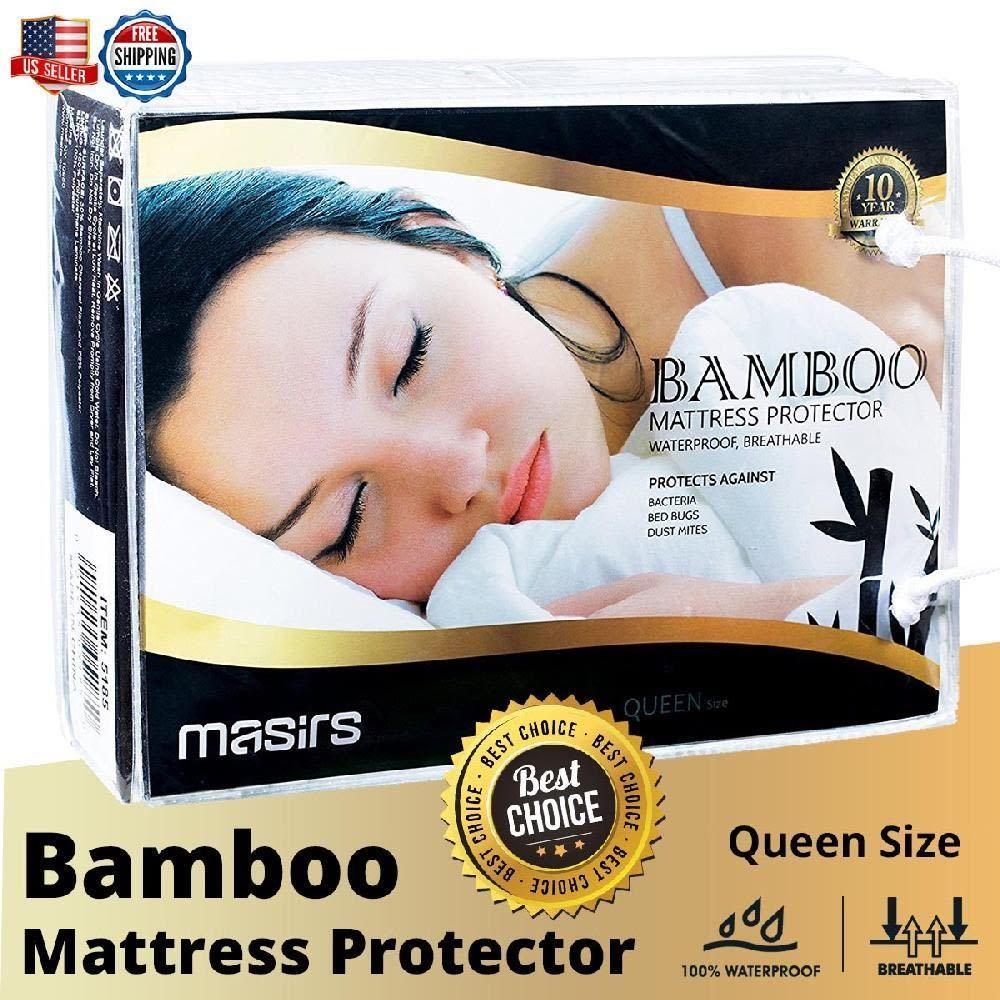 bamboo mattress protector waterproof breathable soft mattress topper