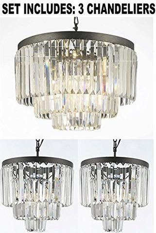 1 Of Odeon Crystal Glass Fringe 3-Tier Chandeliers Lighting And 2 Of Odeon Empress  sc 1 st  Pinterest & 1 Of Odeon Crystal Glass Fringe 3-Tier Chandeliers Lighting And 2 Of ...