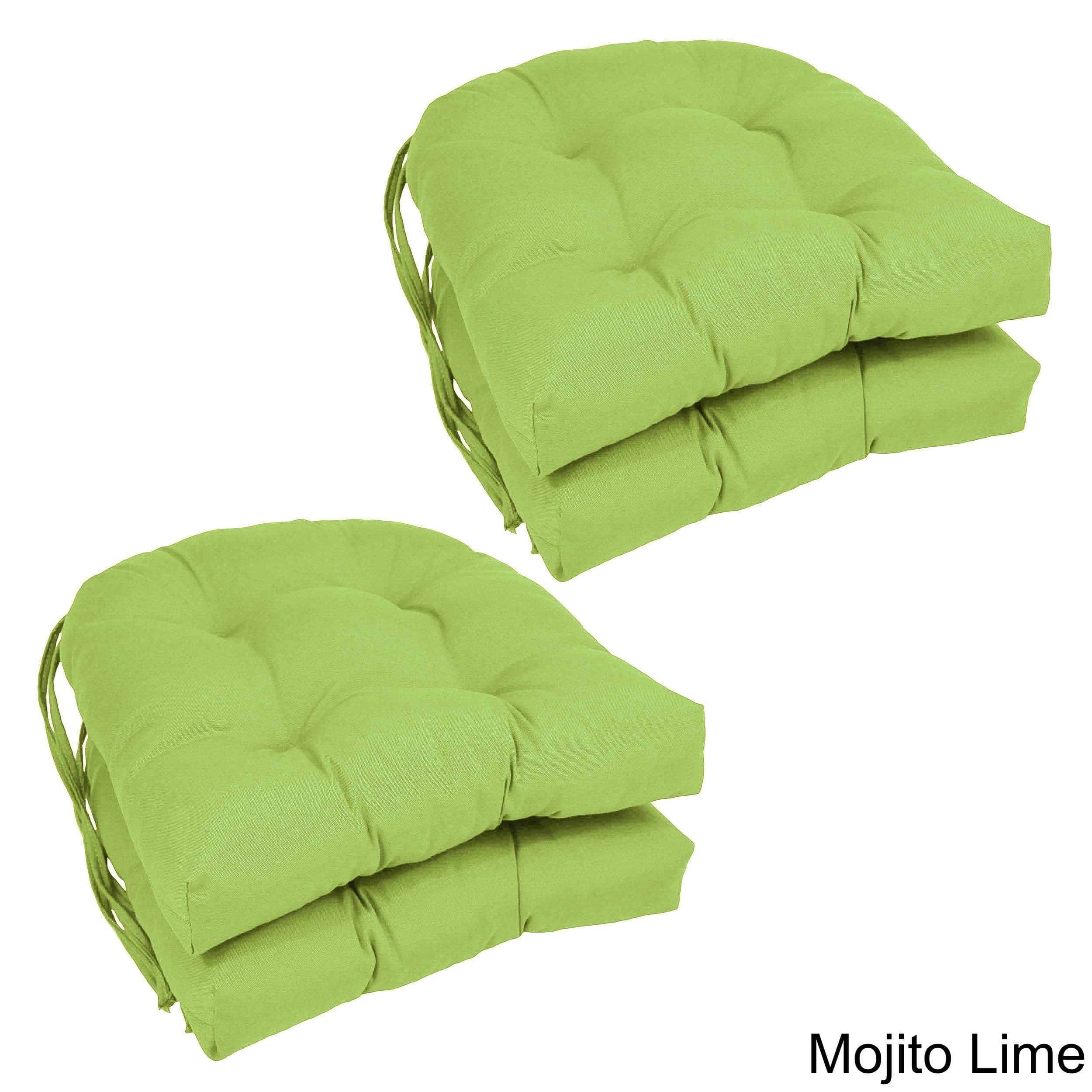 u shaped chair slipcovers baby shower alternatives blazing needles 16 inch dining cushions set of 4 x mojito green lime