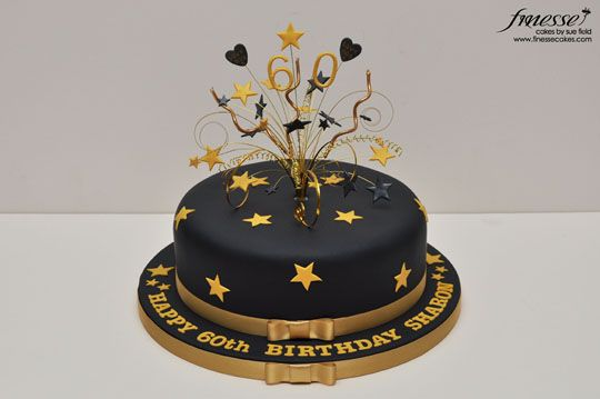 Black And Gold Birthday Cake Black And Gold Birthday Cake 70th
