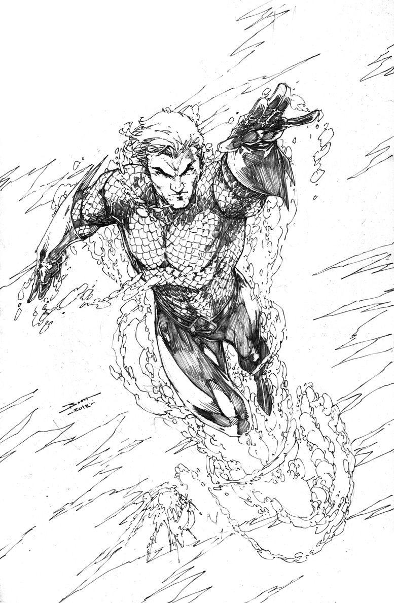 Aquaman By Brett Booth | Jim Lee | Brett Booth Aquaman Comics