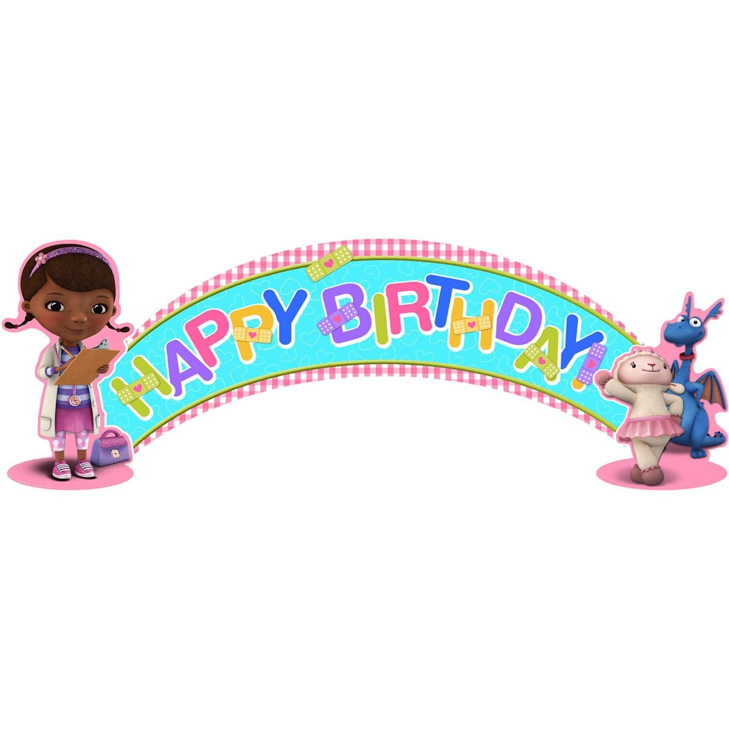Disney Junior Doc Mcstuffins Birthday Banner From Birthdayexpress