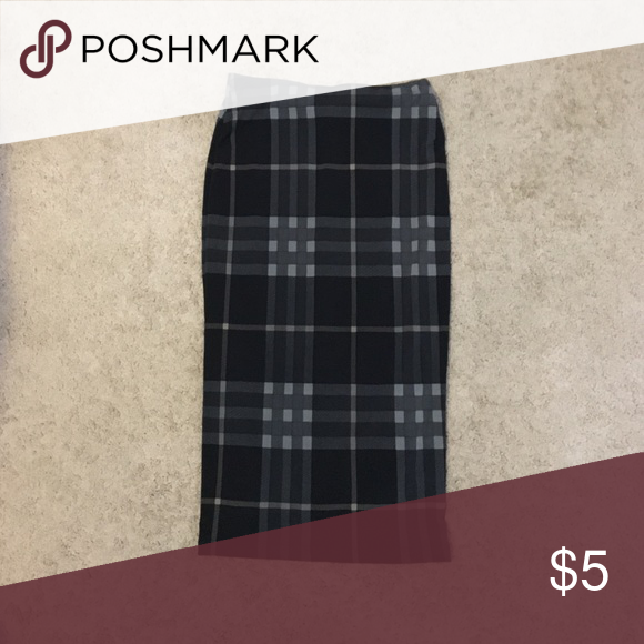 Plaid Pencil Skirt In very good condition Skirts Pencil