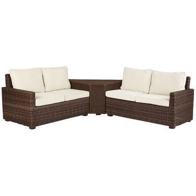 echo beach latte 3 piece sectional pier 1 imports outside
