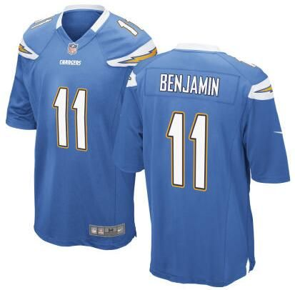 Men's San Diego Chargers #11 Travis Benjamin Light Blue Alternate NFL Nike Elite Jersey
