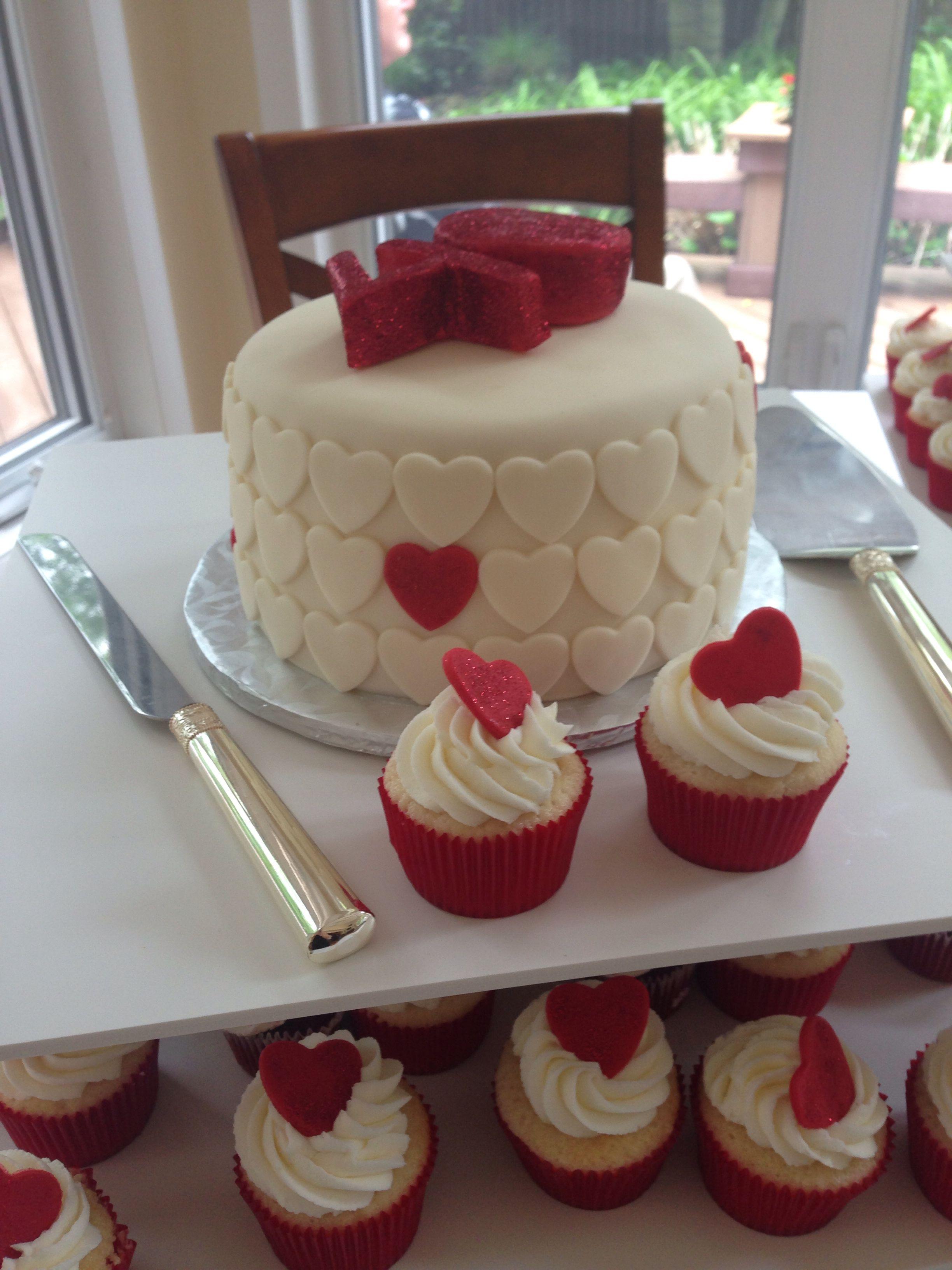 40th Anniversary Cake Amp Cupcakes Ruby