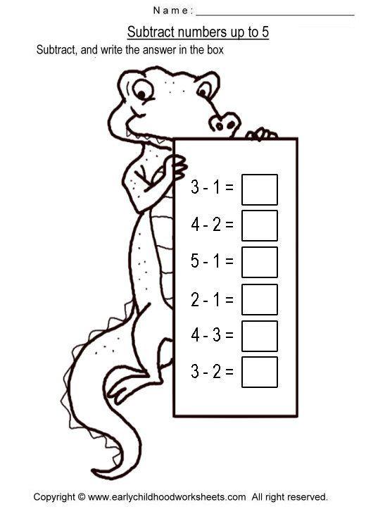 Easy Subtraction Worksheets | Homeschool | Subtraction ...