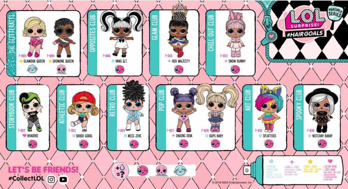 Lol Surprise Hairgoals Checklist Lol Dolls Lol New Dolls
