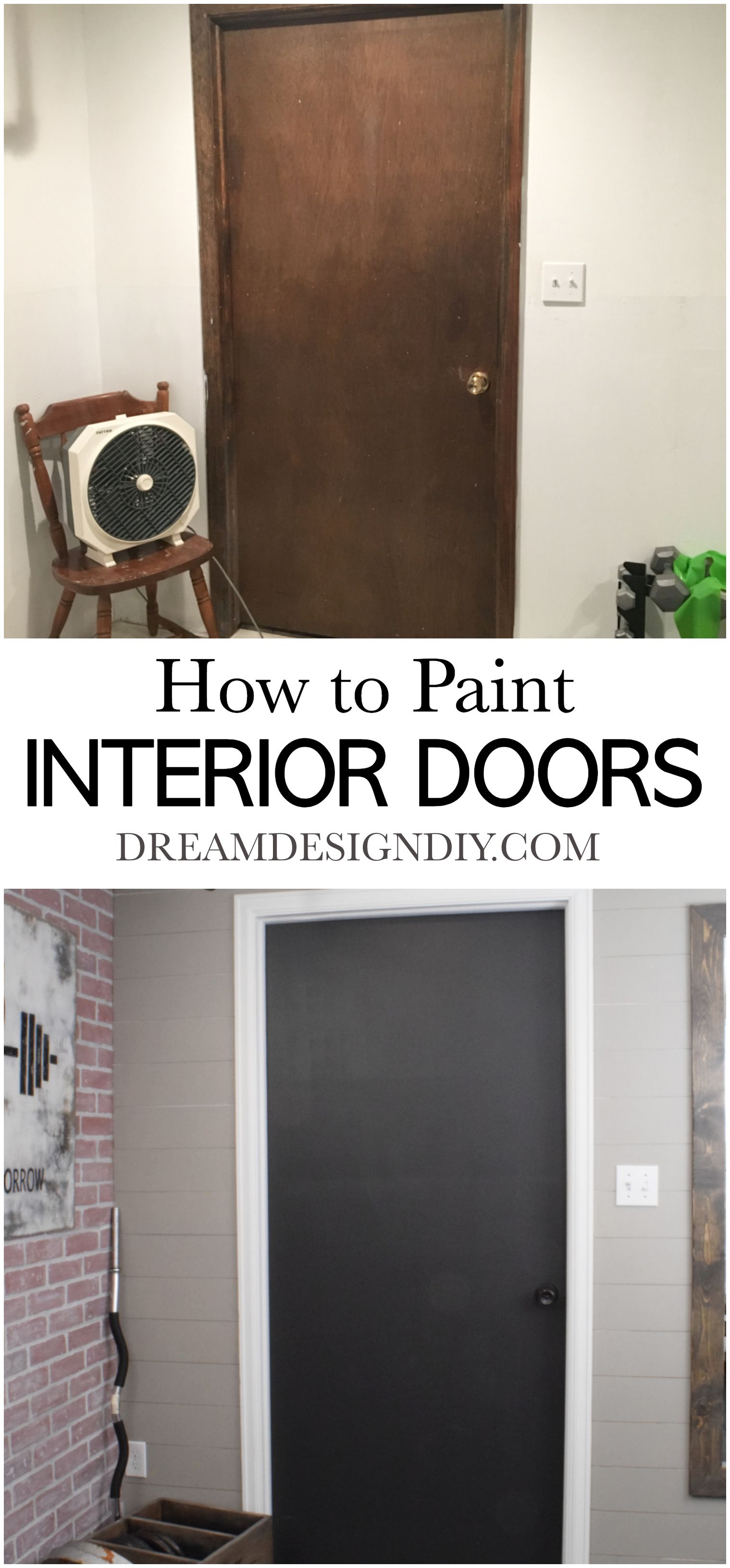 How To Paint Interior Doors Step By Step Tutorial Painted Interior Doors Doors Interior Interior Paint