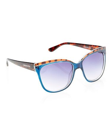d537dc7590 Look what I found on  zulily! Blue Crystal   Tortoise Cat-Eye Sunglasses by  London Fog  zulilyfinds