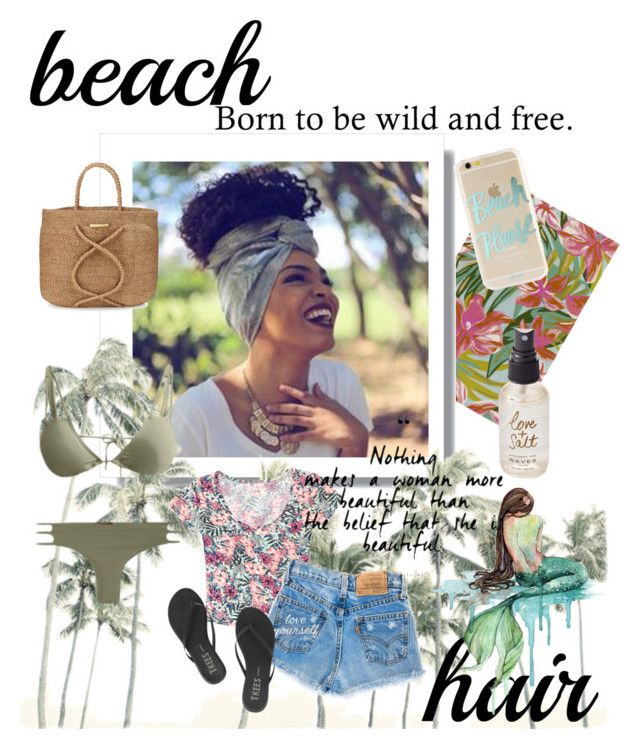 """Beach Please😍💙🌊"" by dezzi17 ❤ liked on Polyvore featuring beauty, Surya, ViX, Kaimana, Grayson, Tkees, Sonix, Olivine and beachhair"