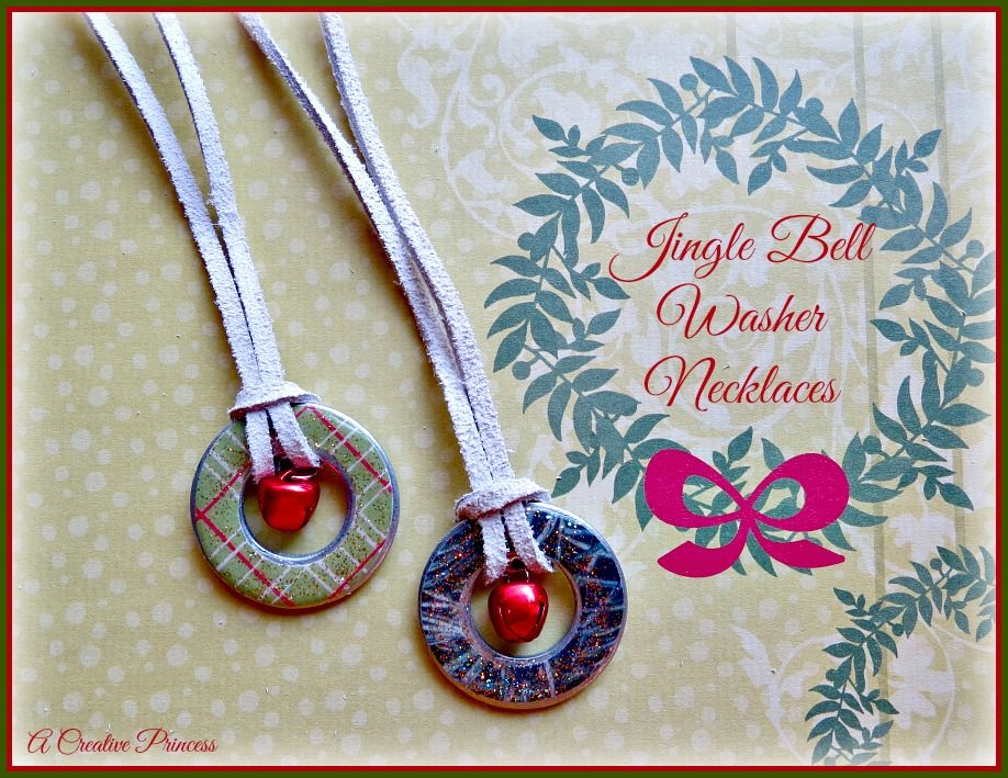 A Creative Princess Jingle Bell Washer Necklace