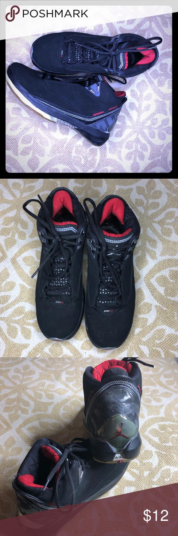 uk availability fedb5 9e603 Nike air Jordan XX2 NIKE AIR JORDAN XX2 22 BLACK VARSITY RED METALLIC  SILVER 315299-