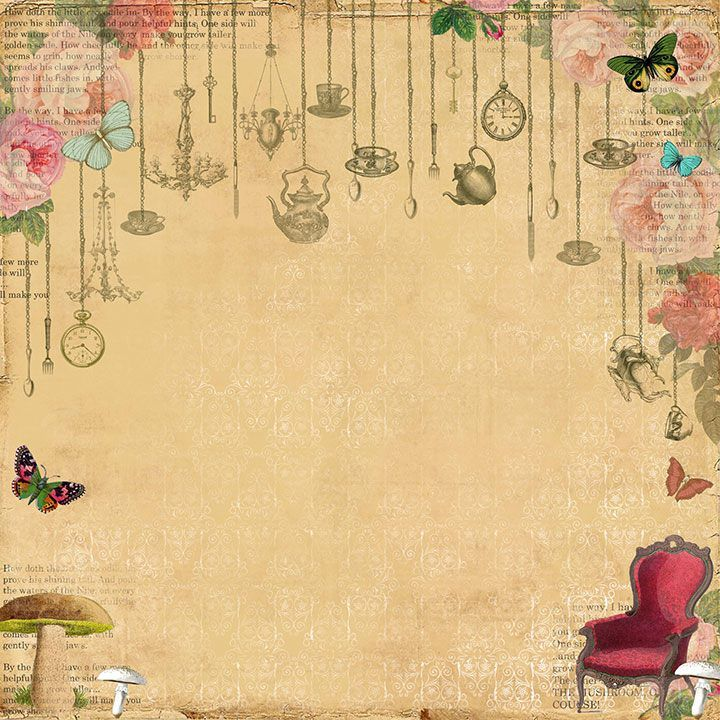 Mad Tea Party Image Paper Alice In Wonderland Background
