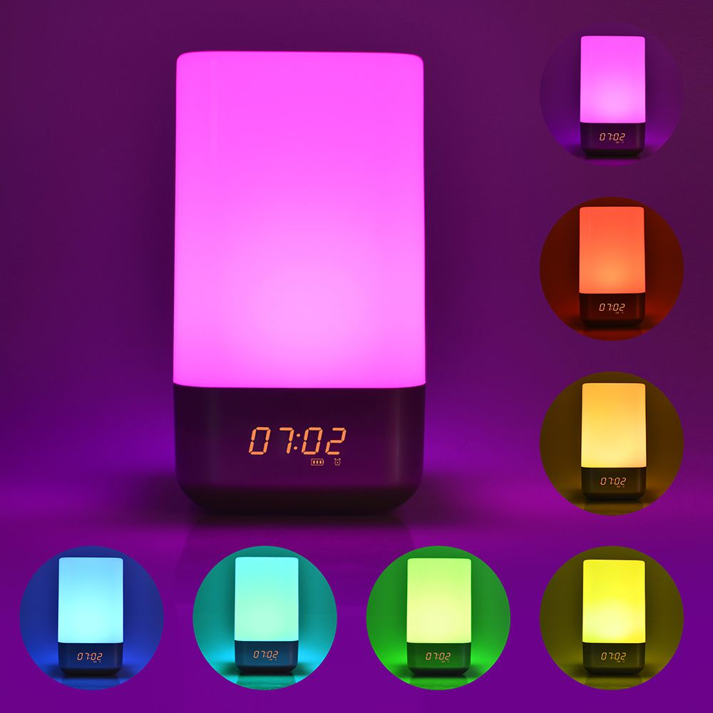 Modern Decorative Bedside Alarm Clock With Led Light For Tabletop