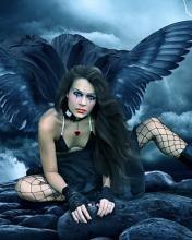 Картинка на телефон: Тёмный ангел | Ангел, Анимация и Темный