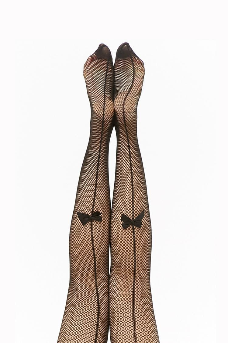 f435438a562 Bow-Accent Fishnet Tights in 2019