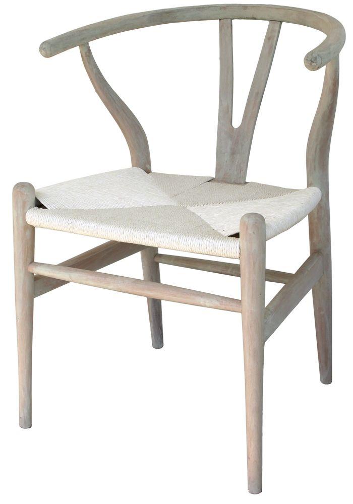 Wishbone Chair White   Beach house kitchen dining ...