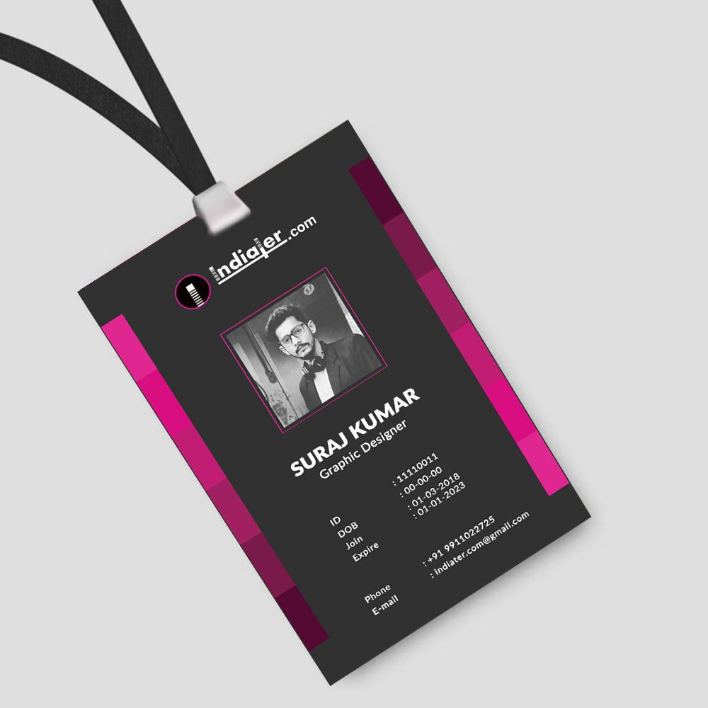 Multipurpose Office Creative Id Card Free Psd Template