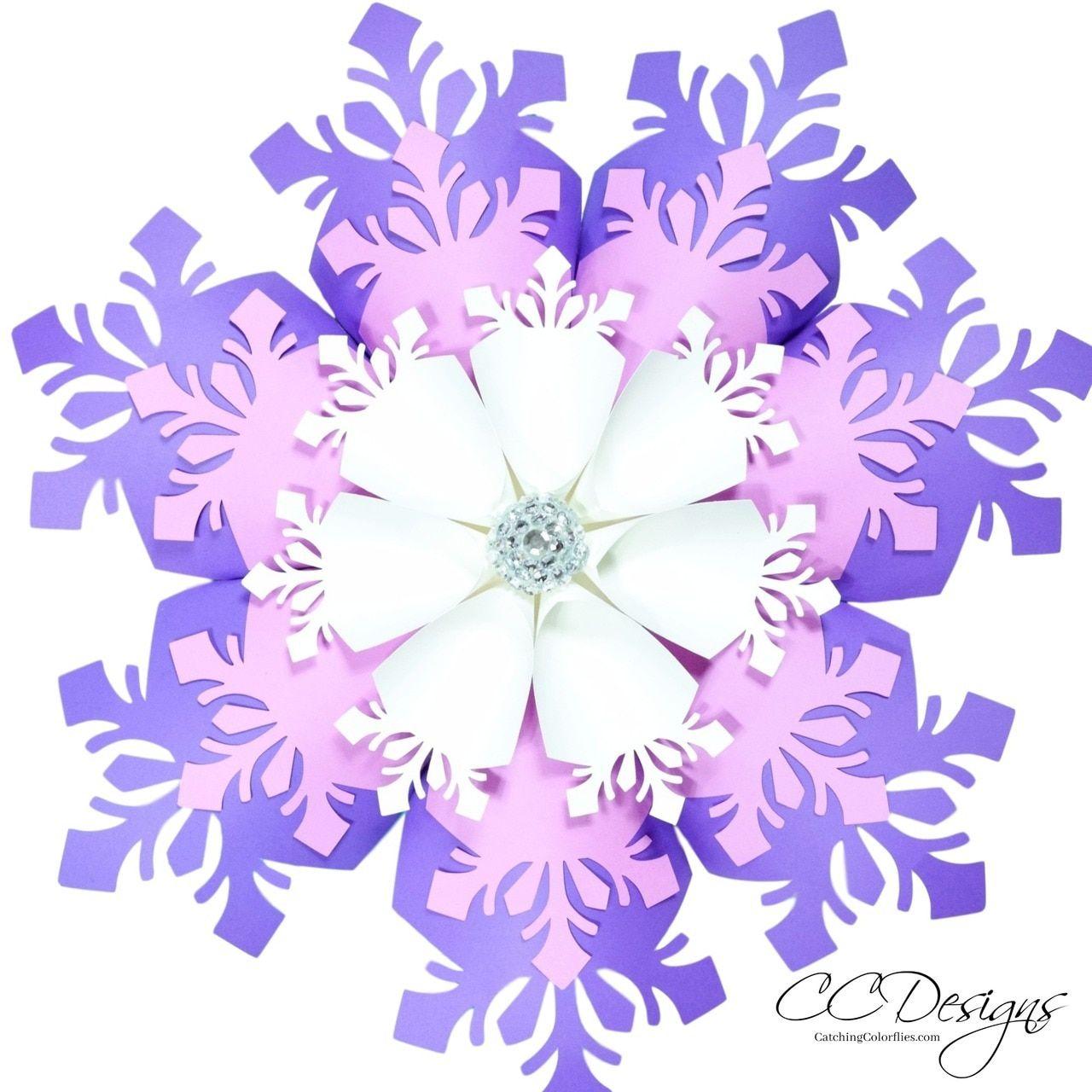 Large Paper Snowflake Flower Template Paper snowflake