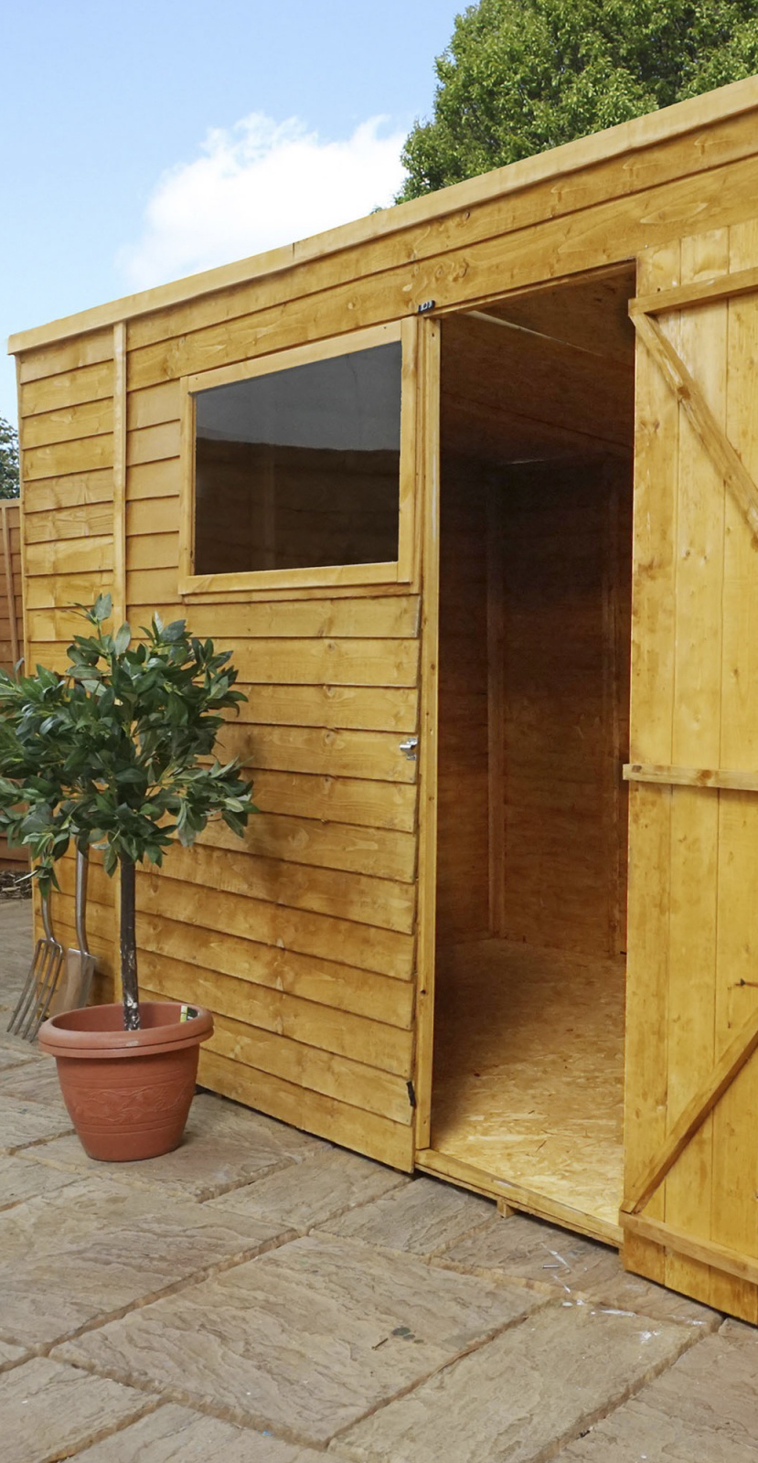 Best Wooden Storage Shed With Flat Roof Shed Wooden Storage 400 x 300
