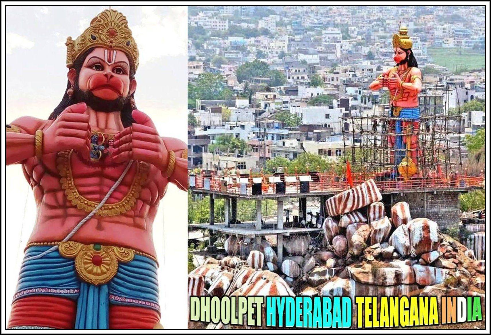 51 Feet Height Tallest Statue Of Rambhakt Hanuman Is Located On