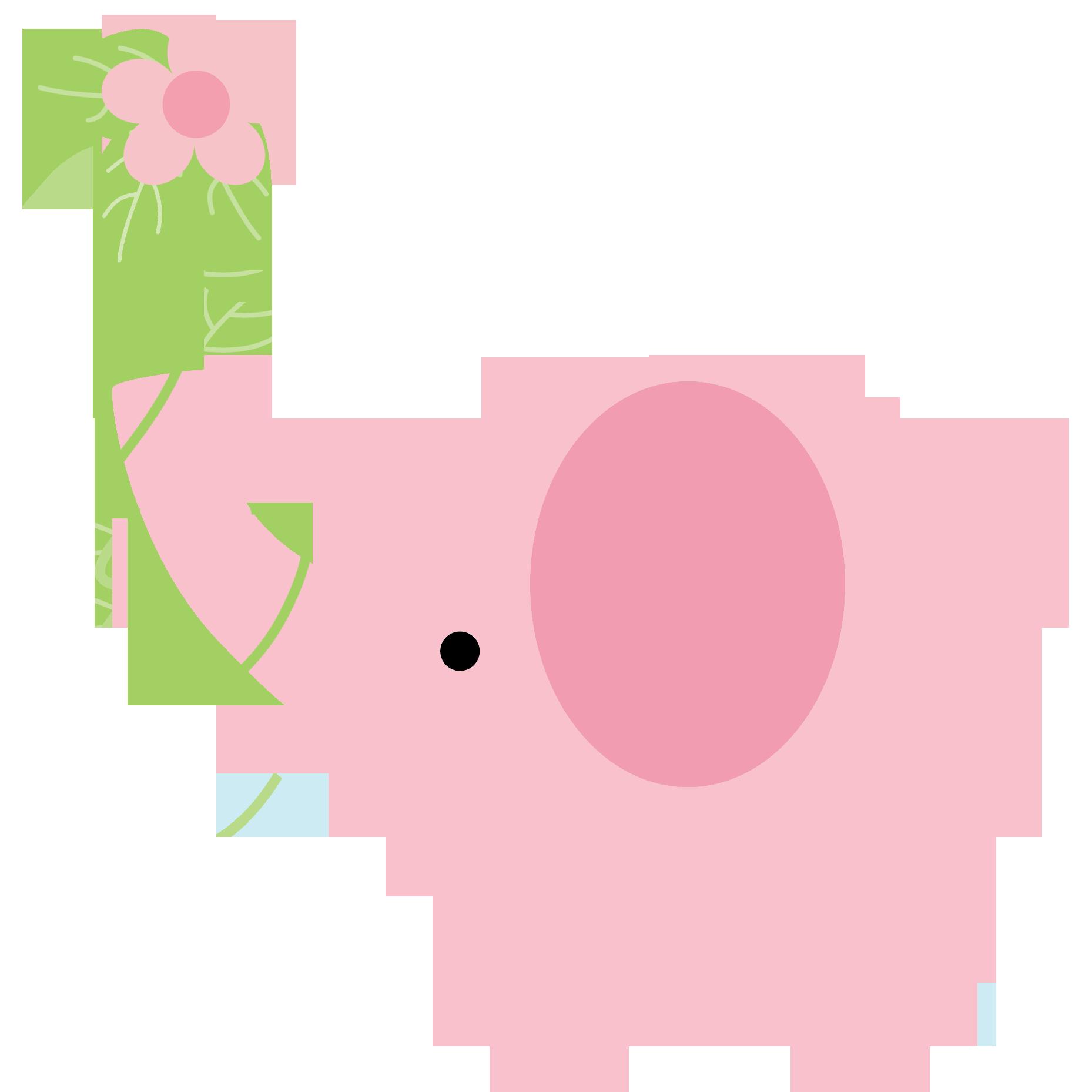 Elephant Clip Art Black And White | Clipart Panda - Free ... |Cartoon Baby Elephant Pink