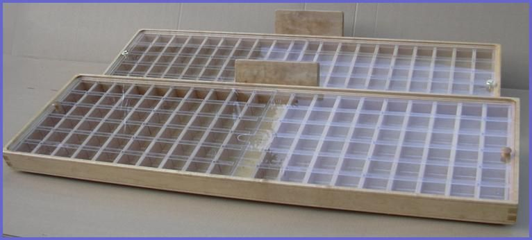 """Custom wood fly fishing fly box and display and storage case in solid Western Maple with dovetailed corners 1/4"""" Baltic Birch ply bottom, ..."""