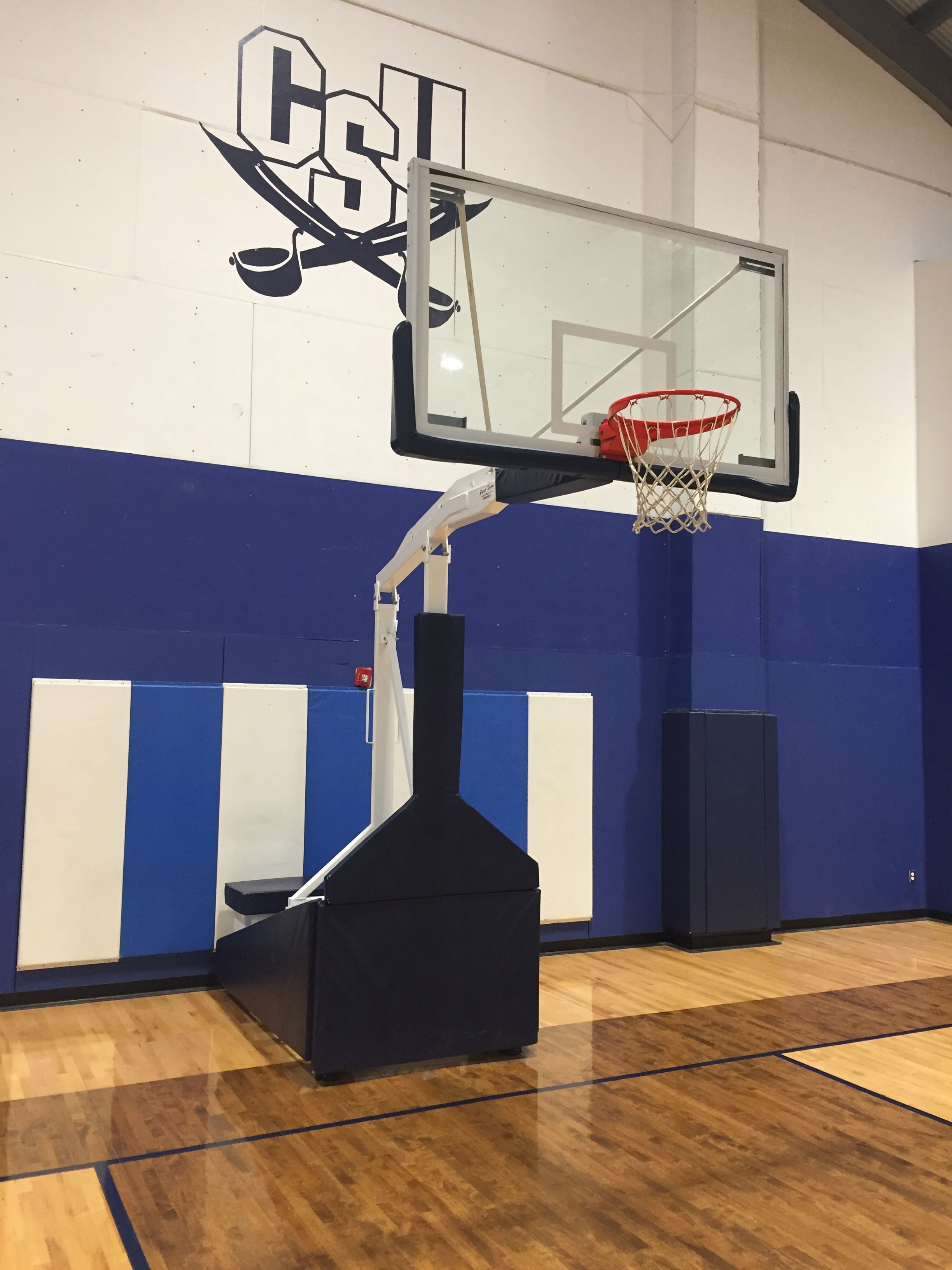 First Teamu0027s TEMPEST TRIUMPH Portable Basketball Goal. This Unit Features A  Regulation Tempered Glass Backboard