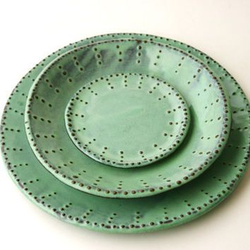 Dinnerware Set for 4 - 16 Peices - Aqua Mist - Dinner Salad Dessert Bread Plate  sc 1 st  Pinterest & Dinnerware Set for 4 - 16 Peices - Aqua Mist - Dinner Salad Dessert ...