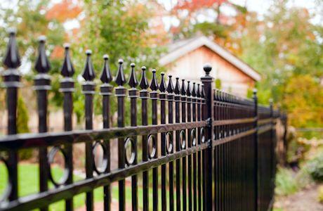Black Wrought Iron Fence With Spikes To Go Around Pool Iron