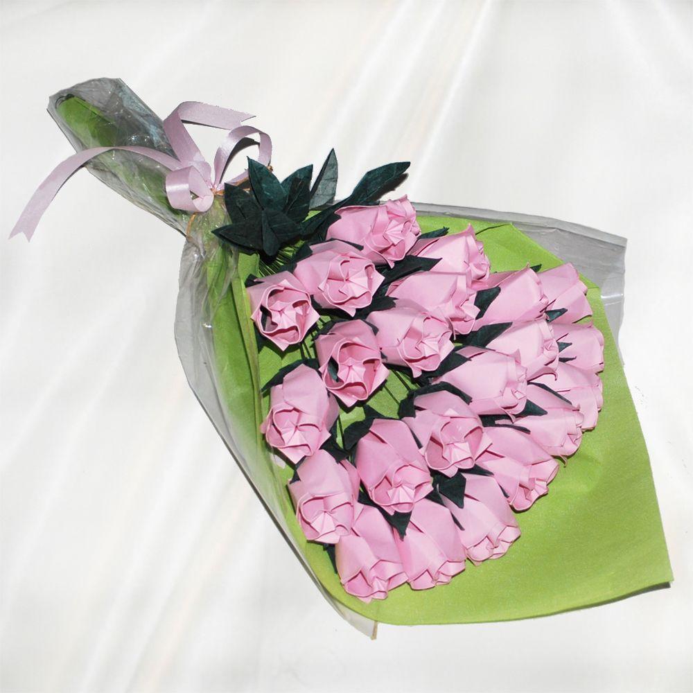 24 origami roses bouquet15867g 10001000 diys pinterest two dozen origami roses bouquet mightylinksfo