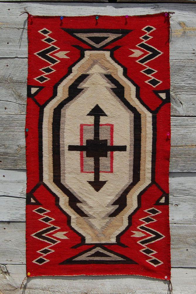 Ca1920 Ganado Hubbell Cross Navajo Rug Native American Indian