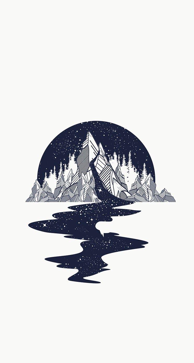 Magic Mountain Iphone Wallpaper Background Lockscreen Imagine