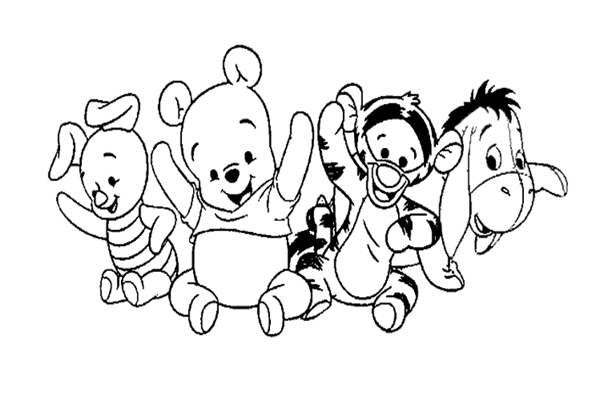 Imagenes De Winnie Pooh Y Sus Amigos Para Colorear - ARCHIDEV